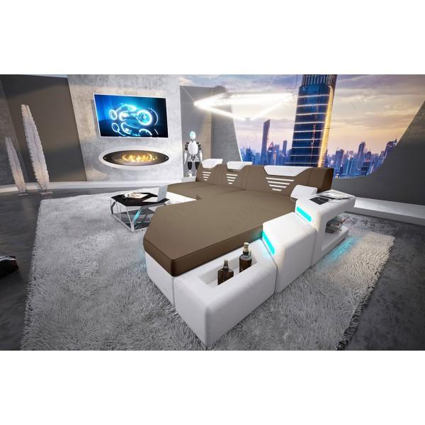 Divano di design CLERMONT CORNER con illuminazione a LED NATIVO mobili Italia