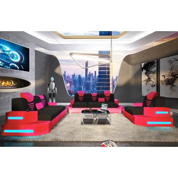 Divano di design CLERMONT 3+2+1 con illuminazione a LED NATIVO mobili Italia