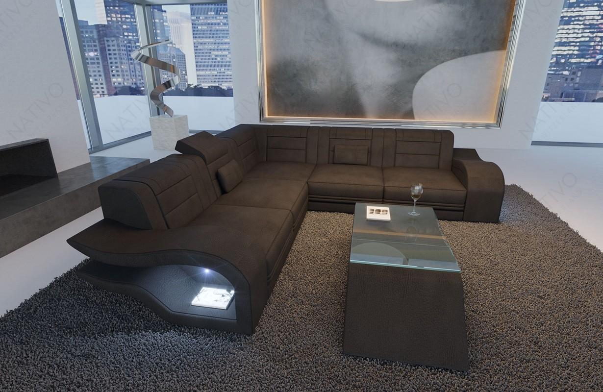 Divano di design HERMES CORNER con illuminazione a LED