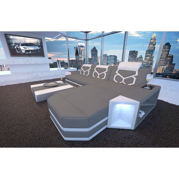 Divano in pelle a 2 posti CLERMONT con illuminazione a LED NATIVO mobili Italia