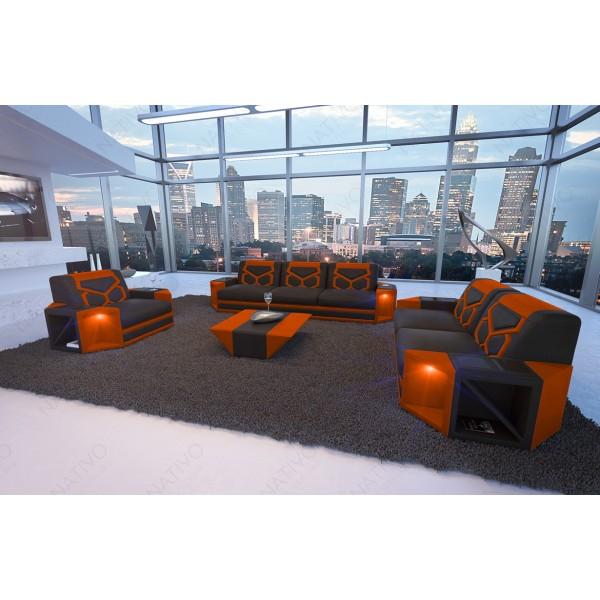 Divano in pelle a 2 posti AVENTADOR con illuminazione a LED NATIVO mobili Italia