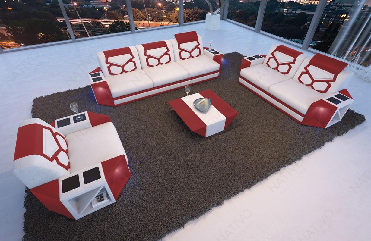 Divano di design AVENTADOR 3+2+1 con illuminazione a LED