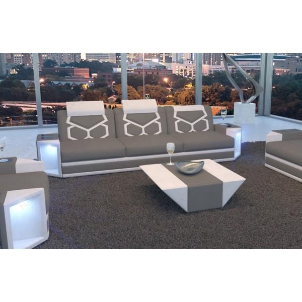 Divano in pelle a 2 posti SPACE con illuminazione a LED NATIVO mobili Italia