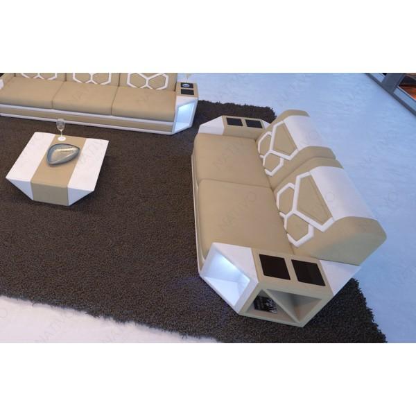 Divano in pelle a 2 posti MATIS con illuminazione a LED NATIVO mobili Italia
