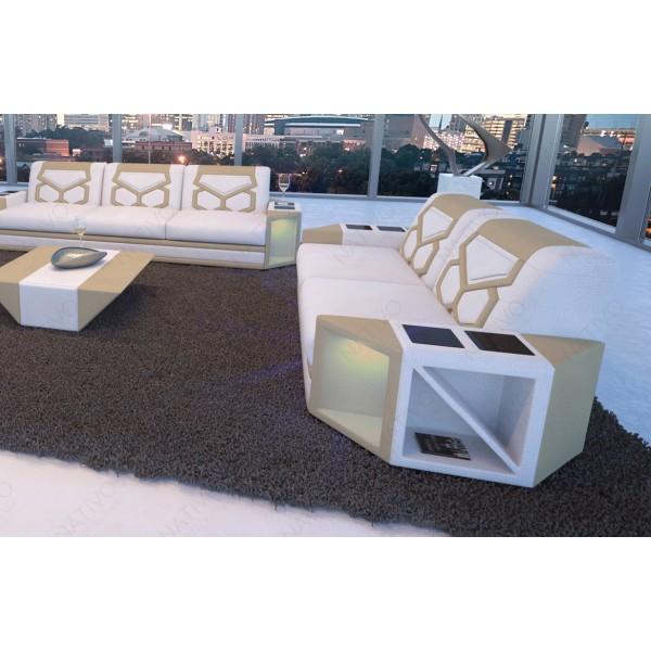 Divano in pelle a 2 posti CESARO con illuminazione a LED NATIVO mobili Italia