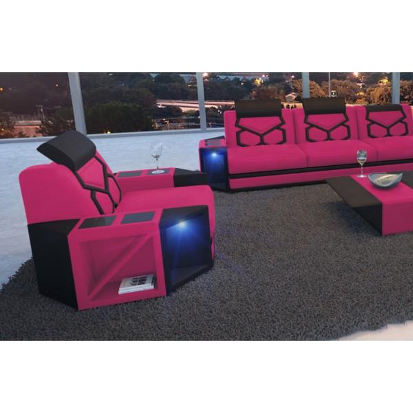 Divano in pelle a 2 posti IMPERIAL con illuminazione a LED NATIVO mobili Italia