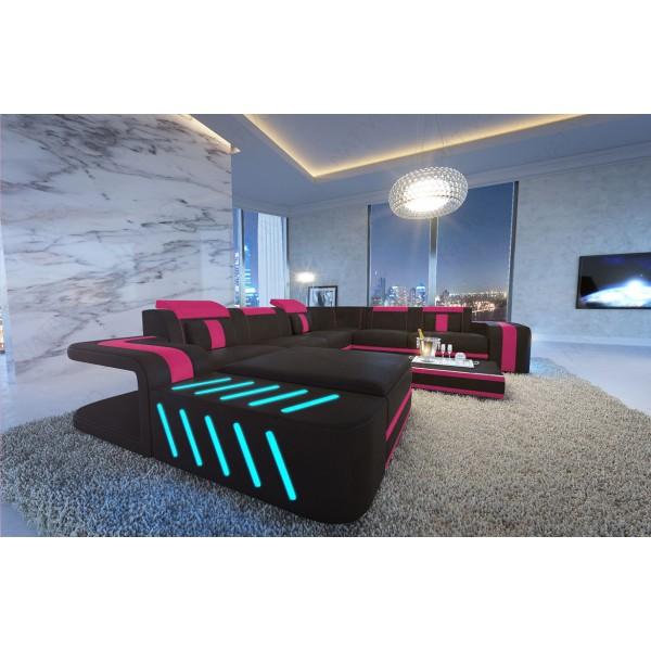 Divano in pelle a 2 posti CAREZZA con illuminazione a LED NATIVO mobili Italia