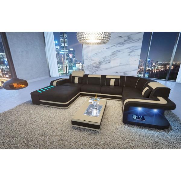Divano in pelle a 2 posti MIRAGE con illuminazione a LED NATIVO mobili Italia