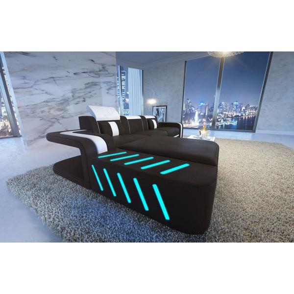 Divano in pelle a 3 posti AVENTADOR con illuminazione a LED NATIVO mobili Italia