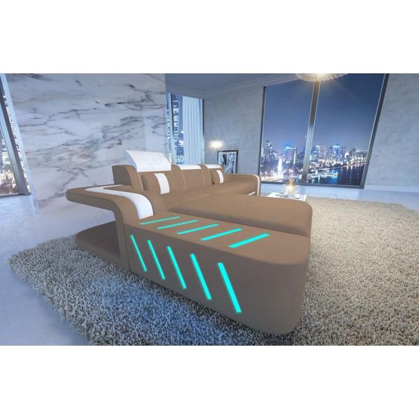 Divano in pelle a 3 posti SPACE con illuminazione a LED NATIVO mobili Italia