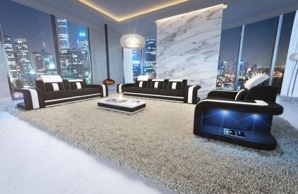 Divano in pelle a 3 posti CESARO con illuminazione a LED NATIVO mobili Italia