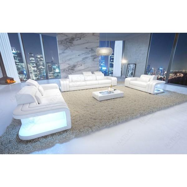 Divano in pelle a 3 posti IMPERIAL con illuminazione a LED NATIVO mobili Italia