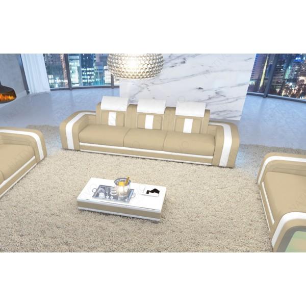 Divano in pelle a 3 posti ATLANTIS con illuminazione a LED NATIVO mobili Italia