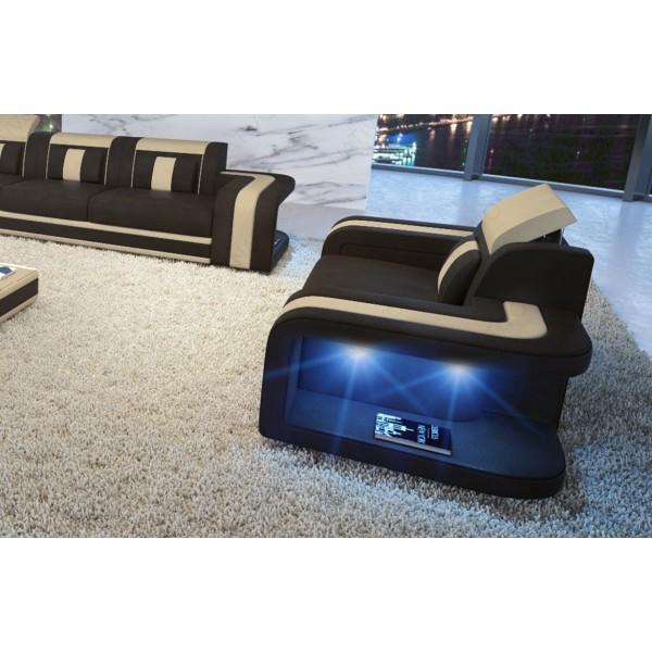 Divano in pelle a 3 posti MIRAGE con illuminazione a LED NATIVO mobili Italia