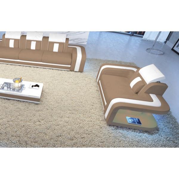 Letto di design BERN con illuminazione a LED e presa USB NATIVO mobili Italia