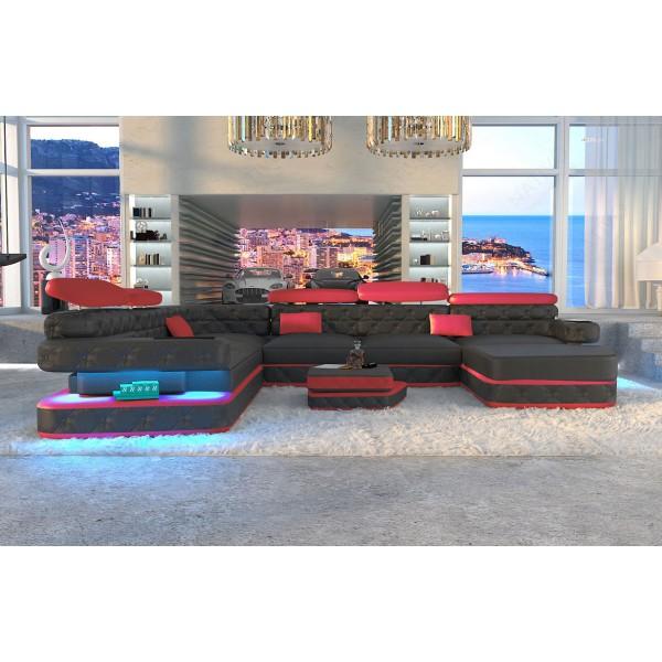 Divano di design HERMES 3+2+1 con illuminazione a LED NATIVO mobili Italia