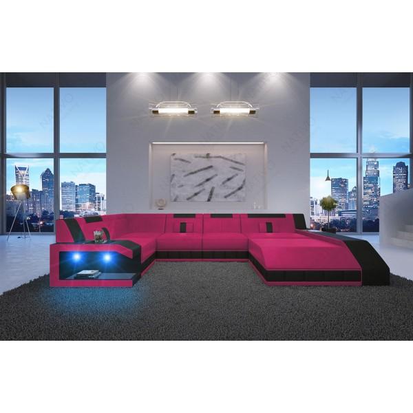 Letto di design BERN V2 con illuminazione a LED e presa USB NATIVO mobili Italia