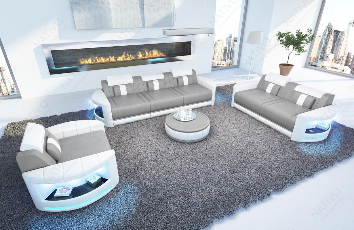Divano di design ATLANTIS 3+2+1 con illuminazione a LED
