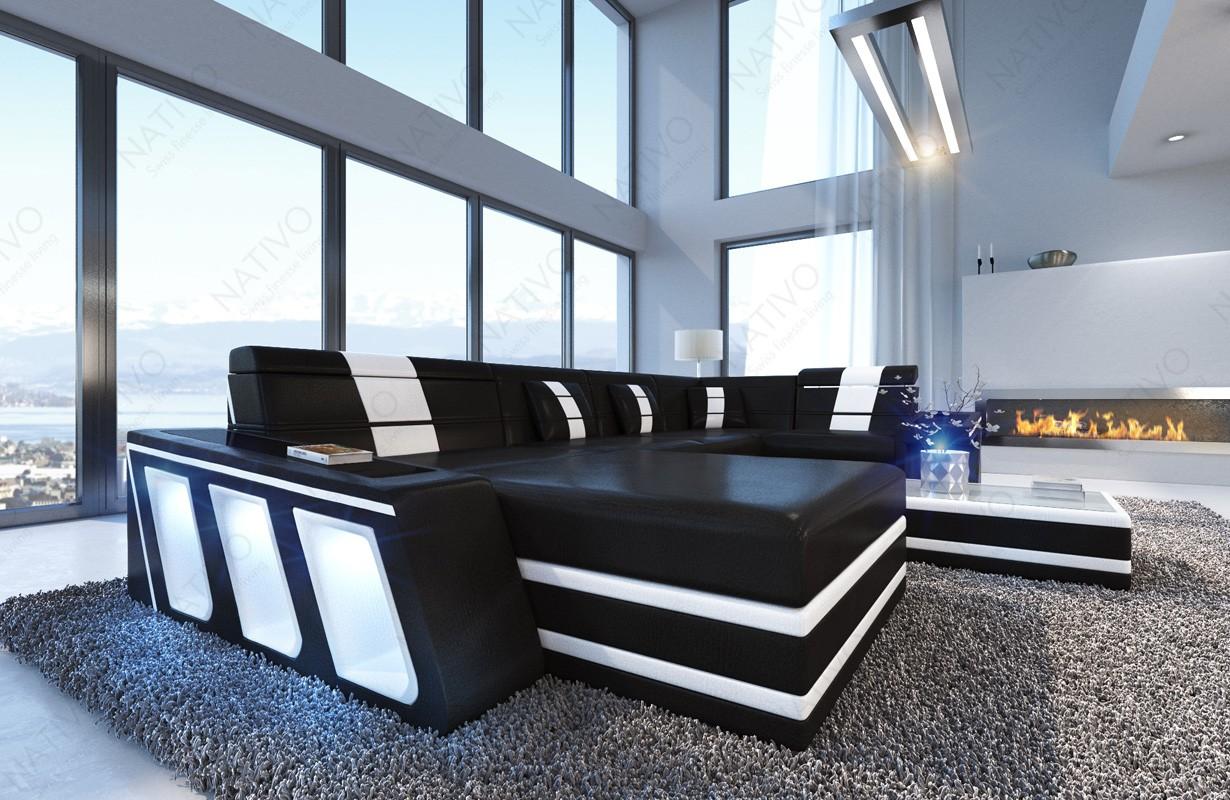 Divano di design CAREZZA XL con illuminazione a LED