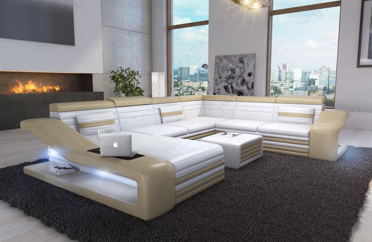 Divano di design MIRAGE XXL con illuminazione a LED