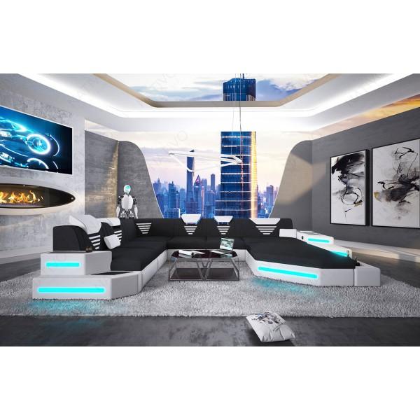 Divano di design ROYAL XXL con illuminazione a LED e presa USB NATIVO mobili Italia