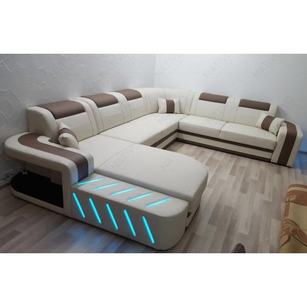 Divano di design SPACE XL con illuminazione a LED NATIVO mobili Italia