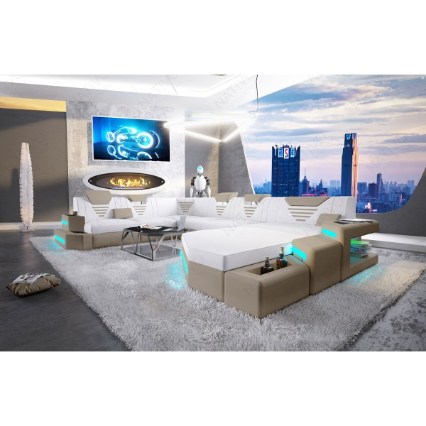 Divano di design ROYAL XL con illuminazione a LED e presa USB NATIVO mobili Italia