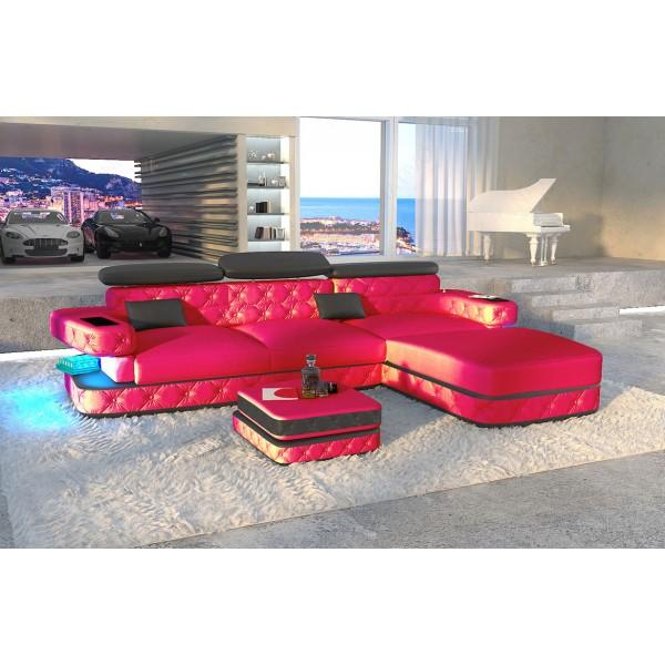 Divano di design SPACE 3+2+1 con illuminazione a LED NATIVO mobili Italia