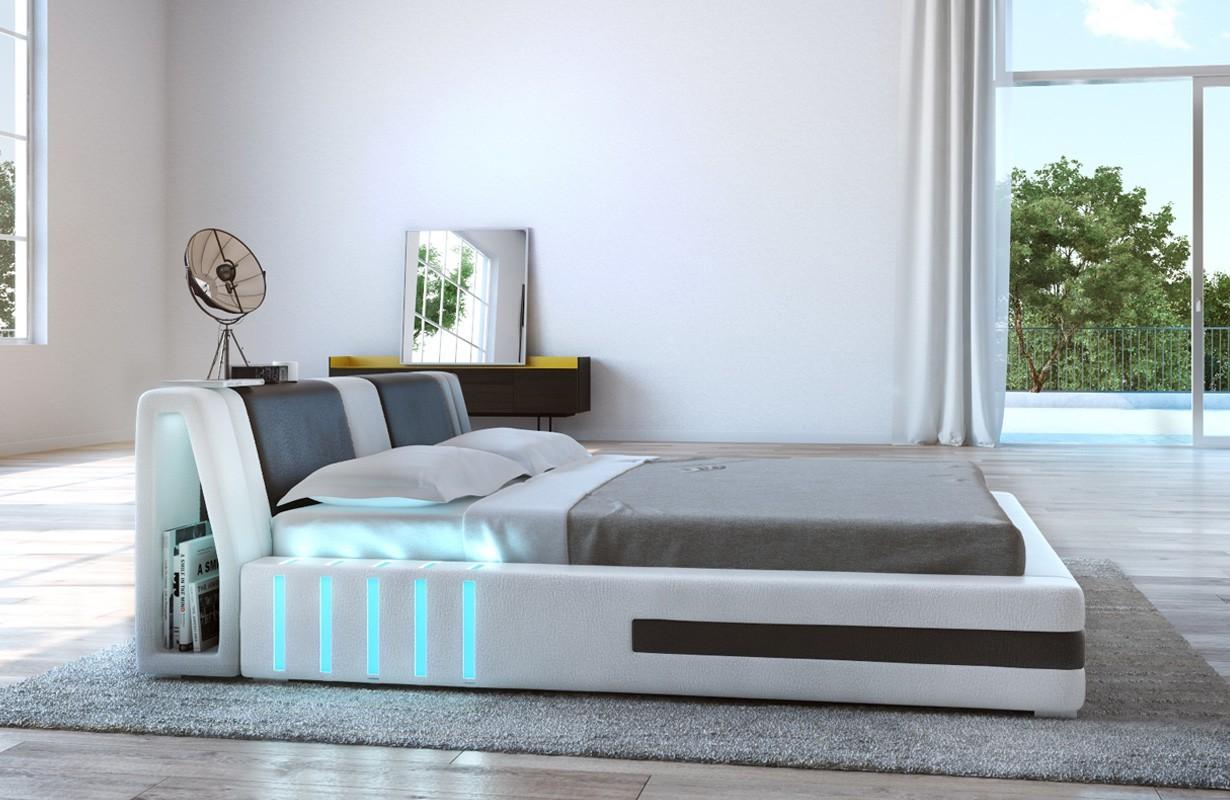 Letto imbottito VENUM con illuminazione a LED