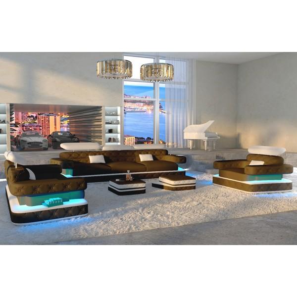 Divano di design MATIS XXL con illuminazione a LED NATIVO mobili Italia