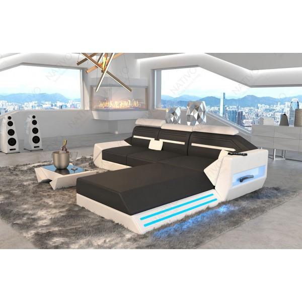 Divano di design CESARO XL con illuminazione a LED NATIVO mobili Italia