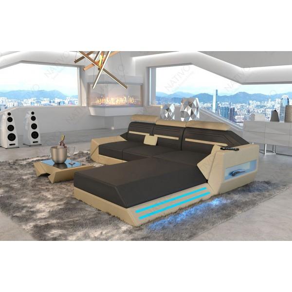 Divano di design CESARO XXL con illuminazione a LED NATIVO mobili Italia