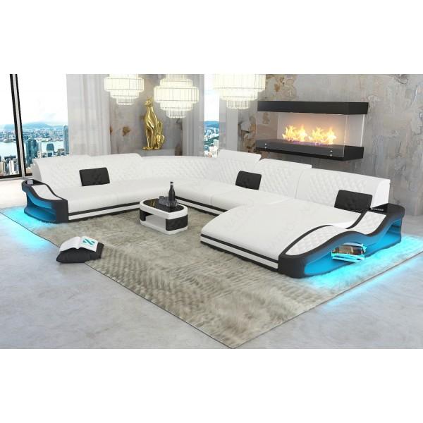Divano di design ATLANTIS 3+2+1 con illuminazione a LED NATIVO mobili Italia