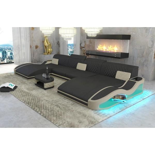 Divano di design CAREZZA XL con illuminazione a LED NATIVO mobili Italia