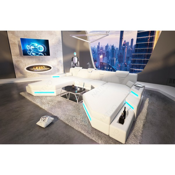 Divano di design ROYAL MINI con illuminazione a LED e presa USB NATIVO mobili Italia