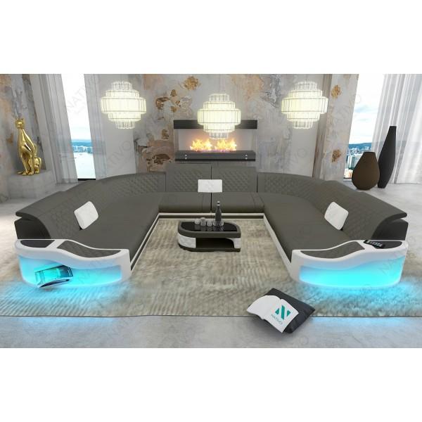 Divano di design CAREZZA 3+2+1 con illuminazione a LED NATIVO mobili Italia