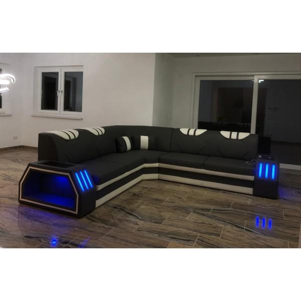 Divano di design MIRAGE 3+2+1 con illuminazione a LED NATIVO mobili Italia