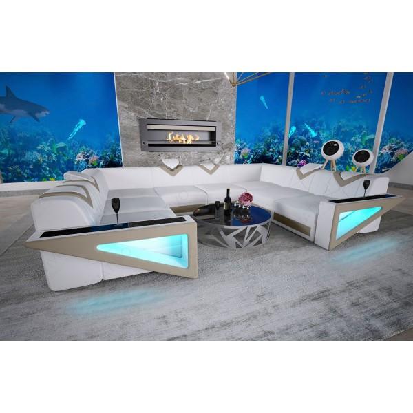 Letto di design IMPERIAL con illuminazione a LED NATIVO mobili Italia