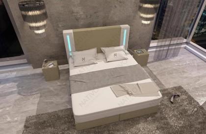 Letto di design LENOX con illuminazione a LED NATIVO mobili Italia