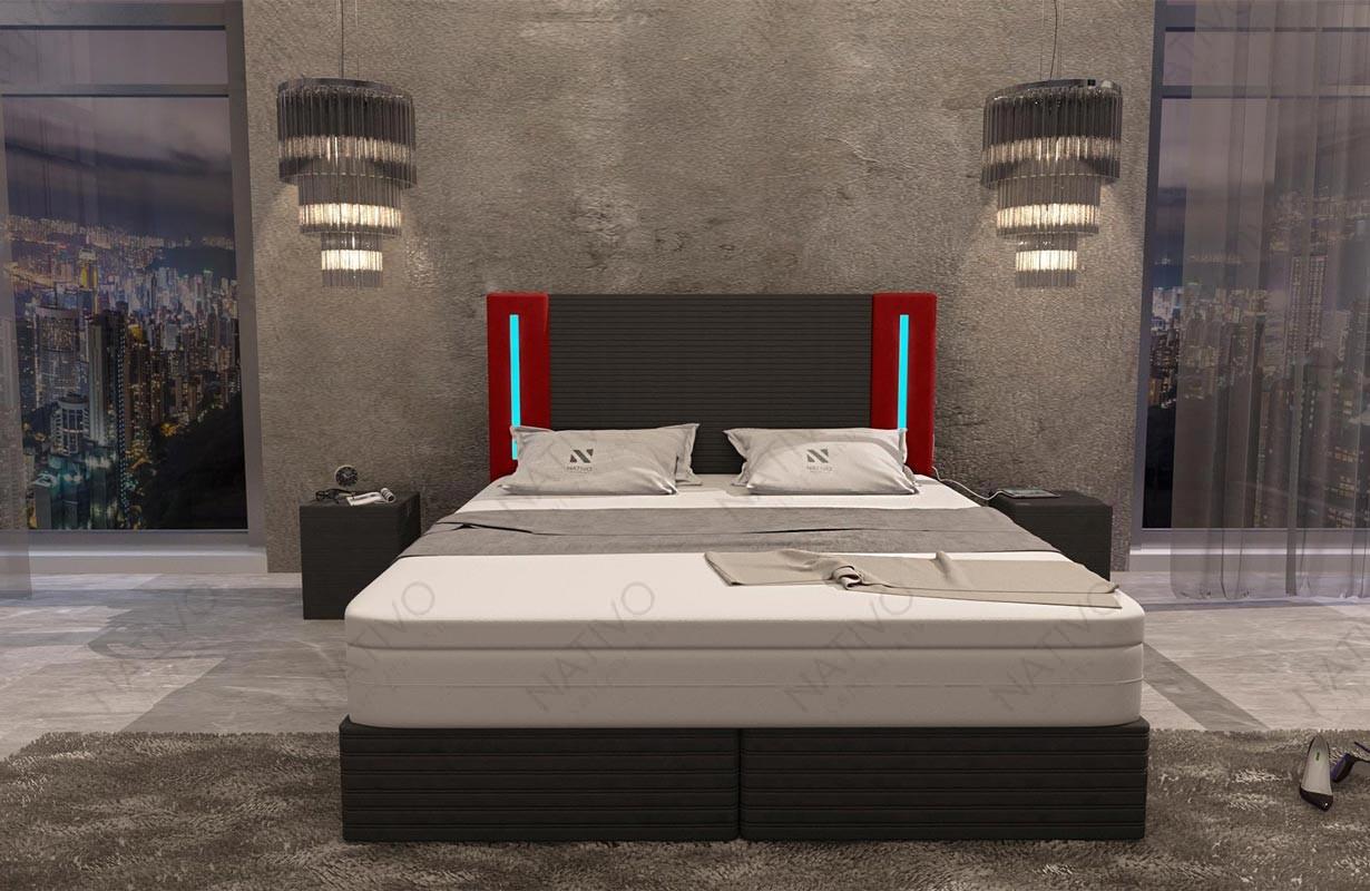 Letto di design VENUM con illuminazione a LED NATIVO mobili Italia