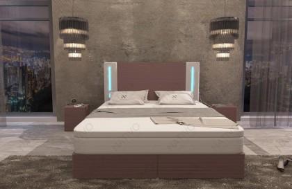 Letto di design FLOYD con illuminazione a LED NATIVO mobili Italia