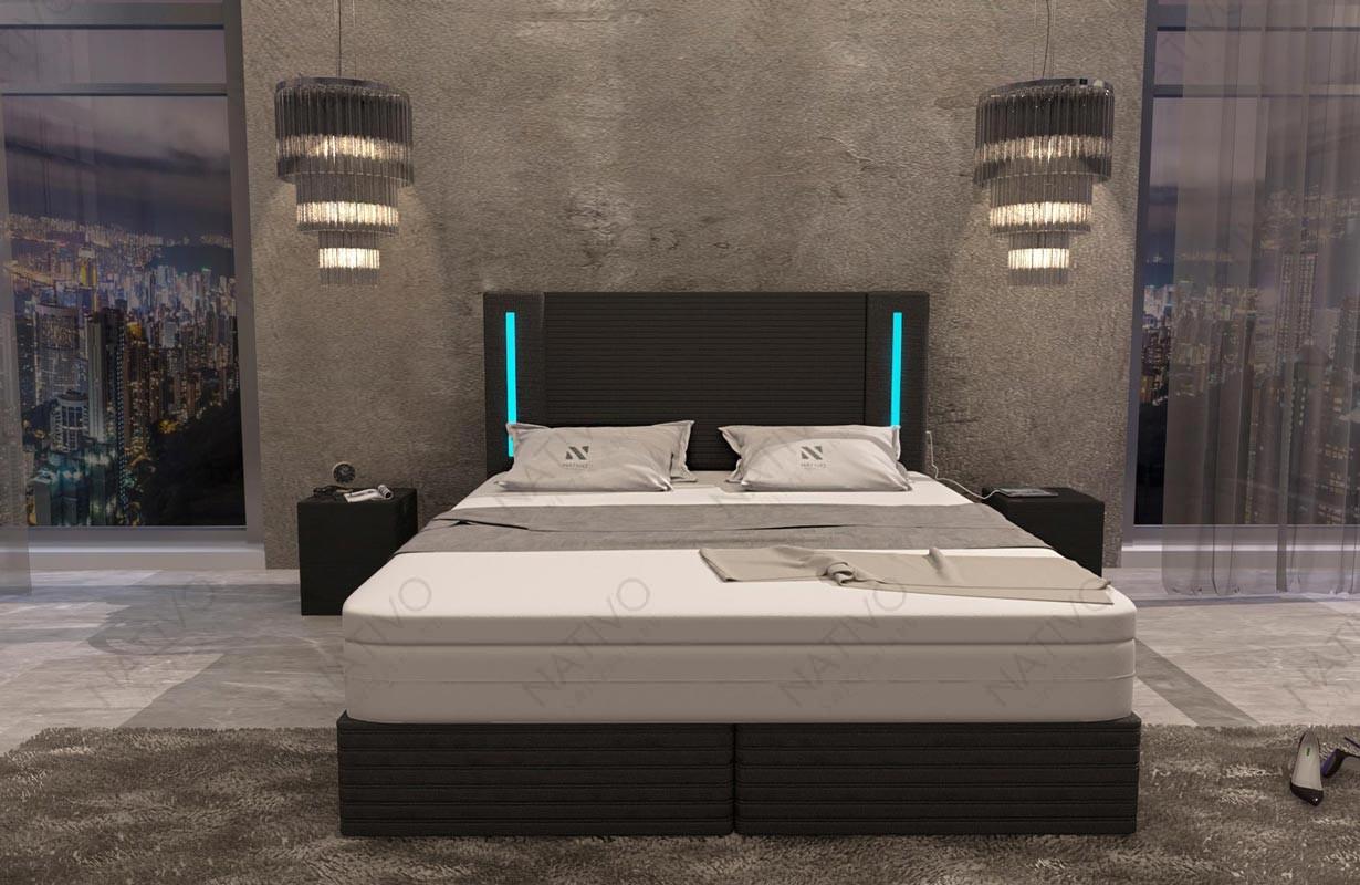 Letto di design EVERLAST con illuminazione a LED NATIVO mobili Italia