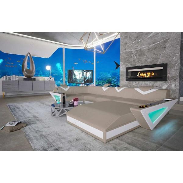 Letto di design TYSON con illuminazione a LED NATIVO mobili Italia