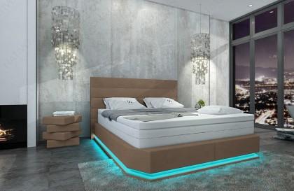 Letto di design MOON con illuminazione a LED NATIVO mobili Italia