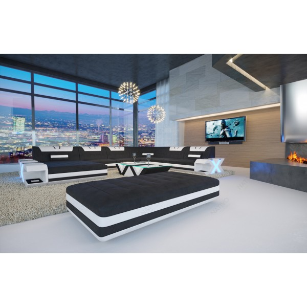 Divano di design ROYAL CORNER con illuminazione a LED e presa USB NATIVO mobili Italia