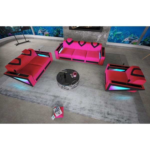 Letto Boxspring ZÜRICH in tessuto con Topper e presa USB NATIVO mobili Italia