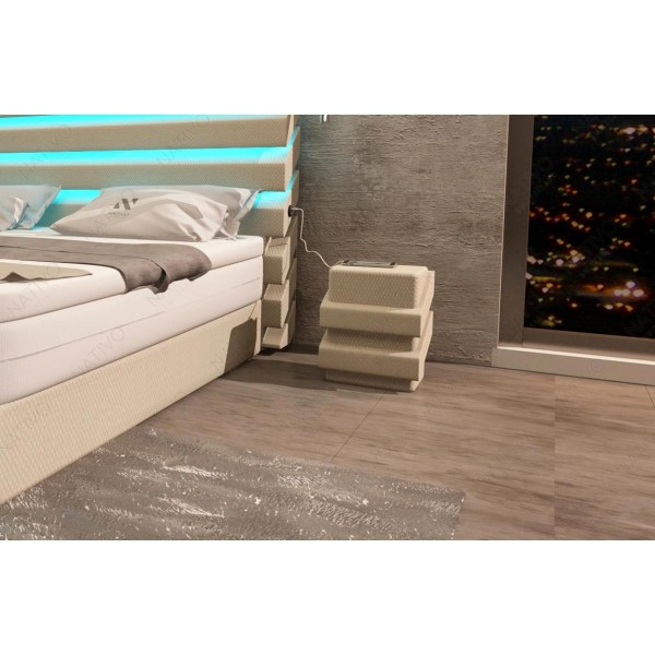 Divano di design ROYAL CORNER U FORM con illuminazione a LED e presa USB NATIVO mobili Italia
