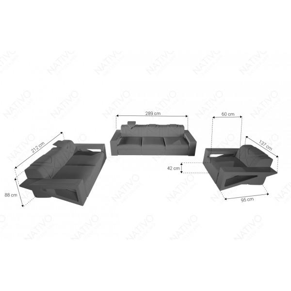 Letto Boxspring WIEN in tessuto con Topper e presa USB NATIVO mobili Italia