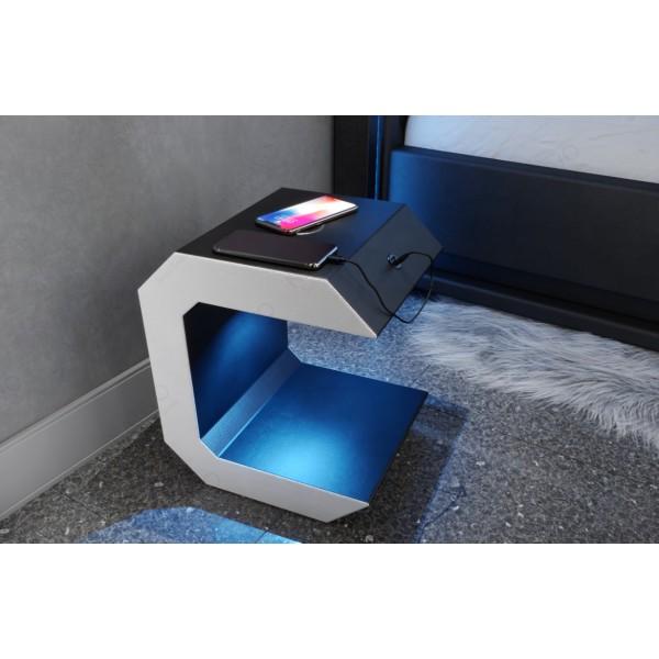 Divano di design ROYAL 3+2+1 con illuminazione a LED e presa USB NATIVO mobili Italia