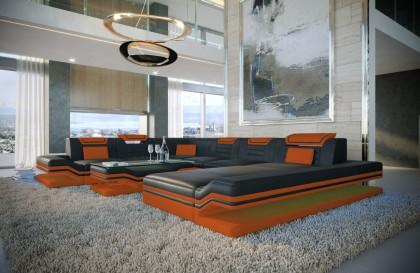 Divano Lounge CAREZZA XXL in rattan con illuminazione a LED NATIVO mobili Italia